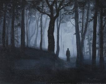 A Path Through the Woods art print 11x14