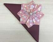 Items similar to origami flower bookmark corner handmade and origami flower bookmark corner handmade and unique paper flower japanese washi paper pink mightylinksfo