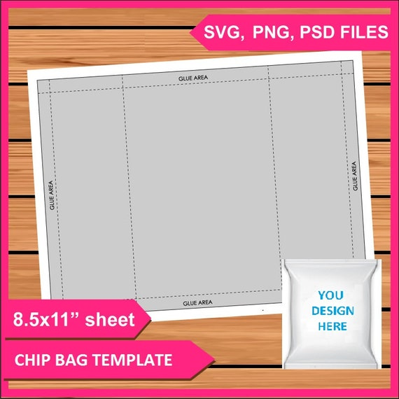 This is a picture of Unforgettable Free Printable Chip Bag Template