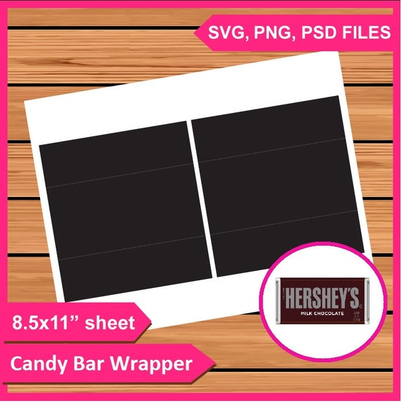 Instant download hershey candy bar wrapper template psd png etsy image 0 maxwellsz