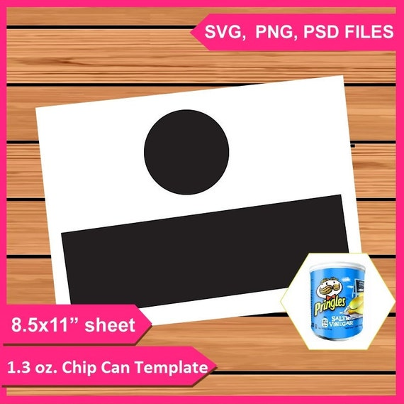 1 3 oz Small Pringles Potato Chip Can Label Wrapper Template Instant  Download PSD, PNG and SVG Files 8 5x11