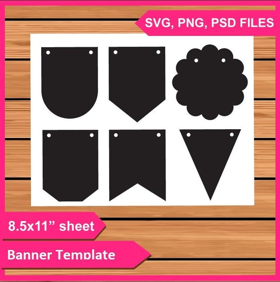 Banner Template Instant Download PSD, PNG and SVG Files 8 5x11