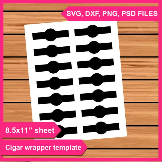 Cigar Wrapper Template Instant Download PSD PNG And SVG Files