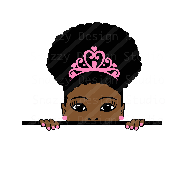Download Peek-a-boo svg Afro puff girl svg Peeking svg Black | Etsy