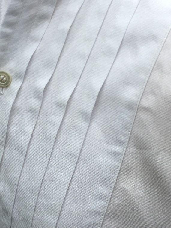 Wonderful French Antique Cotton Gentleman's Dress… - image 4