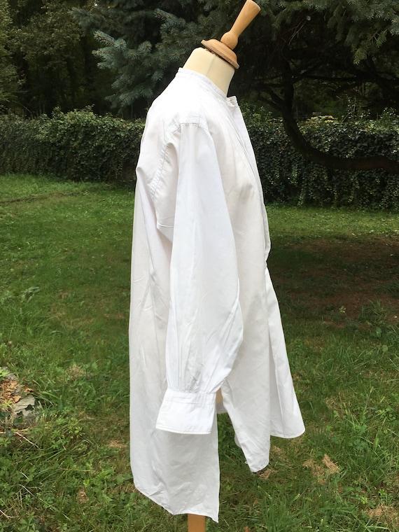 Wonderful French Antique Cotton Gentleman's Dress… - image 2