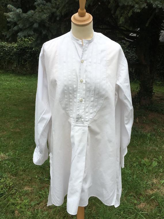 Wonderful French Antique Cotton Gentleman's Dress