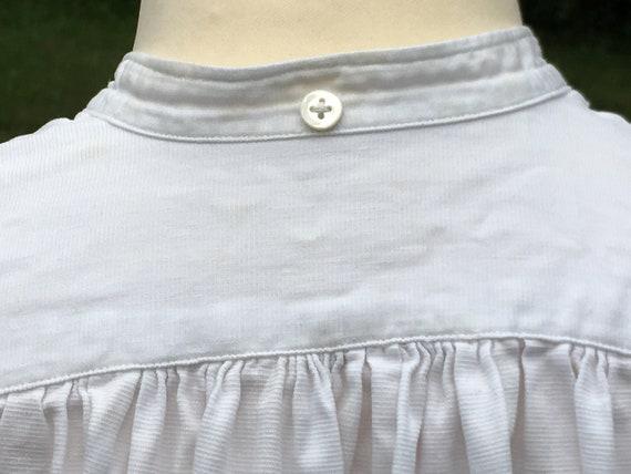 Wonderful French Antique Cotton Gentleman's Dress… - image 8