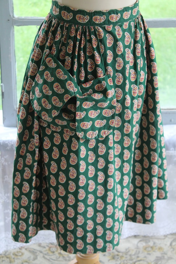 """Fabulous French Antique 1930s Green Provençal """"Ful"""