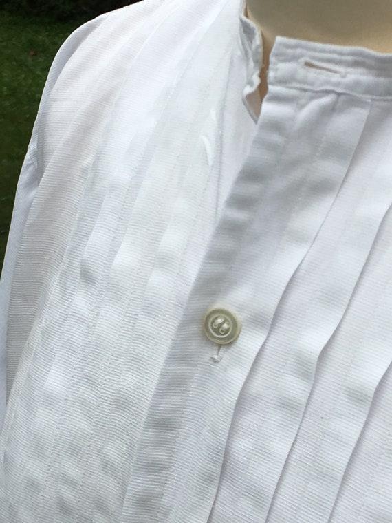 Wonderful French Antique Cotton Gentleman's Dress… - image 7