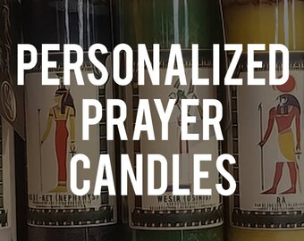 Personalised Egyptian Prayer Candles