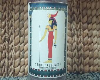 Goddess Serqet (Selket) Candle