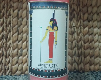 Goddess Auset (Isis) Candle