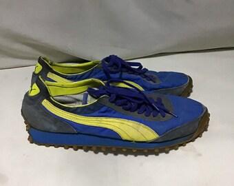 80abb46061f RARE Vintage 80s Puma Lite Rider Racer Sneaker Shoes 10uk
