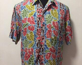 4c8732d2 Vintage Hawaii Shirt 100% Rayon Haiti Beach / Sun Surf