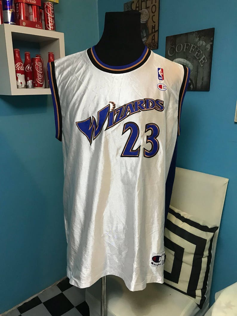 brand new 73bb9 f84d8 Champion Wizards #23 jordan basketball NBA jersey