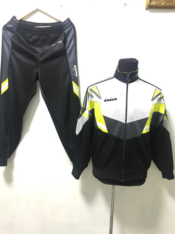 Vtg 90s Diadora Track Suit sweater and pant Tapped