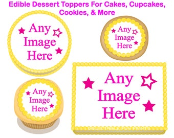 Edible Images, Edible cake toppers, Cake toppers, Cupcake toppers, Cookie Toppers, oreo toppers