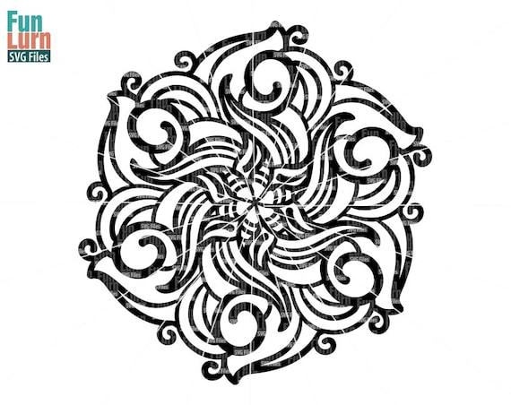 Simple Mandala 60 Mandala Pattern Zen Doodle Etsy Interesting Zendoodle Patterns