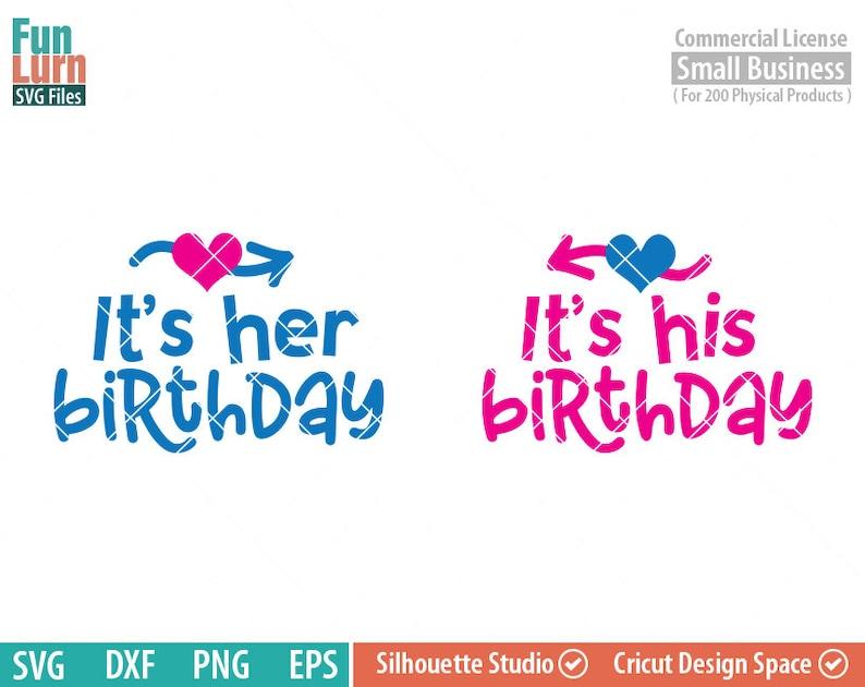 d667ade40d9ec8 Tweeling verjaardag svg tweeling jongen en meisje haar haar | Etsy