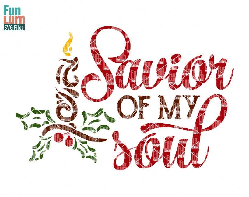 Retter meiner Seele SVG Weihnachts SVG Holly Wortkunst | Etsy