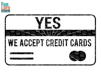Yes we accept credit cards SVG, Craft Fair Sign , wood sign, Tshirt , svg png dxf eps  use with Silhouette Cameo,Cricut Air etc
