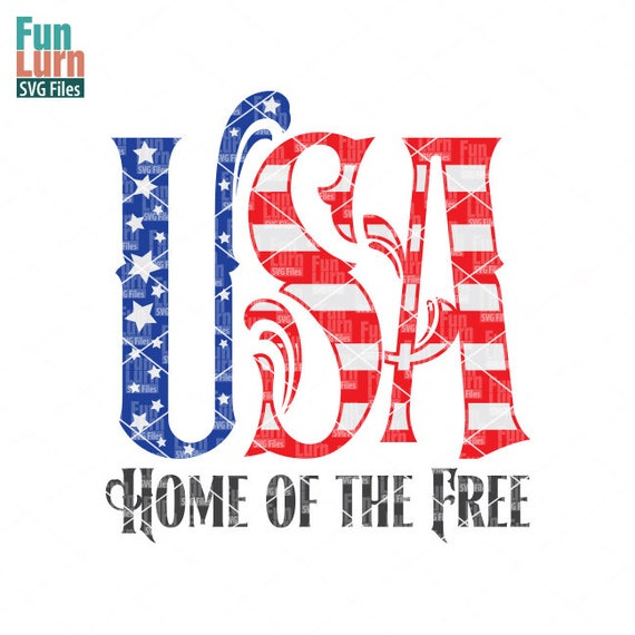 Memorial Day Svg 4th Of July Svg Usa Home Of Free Svg Etsy