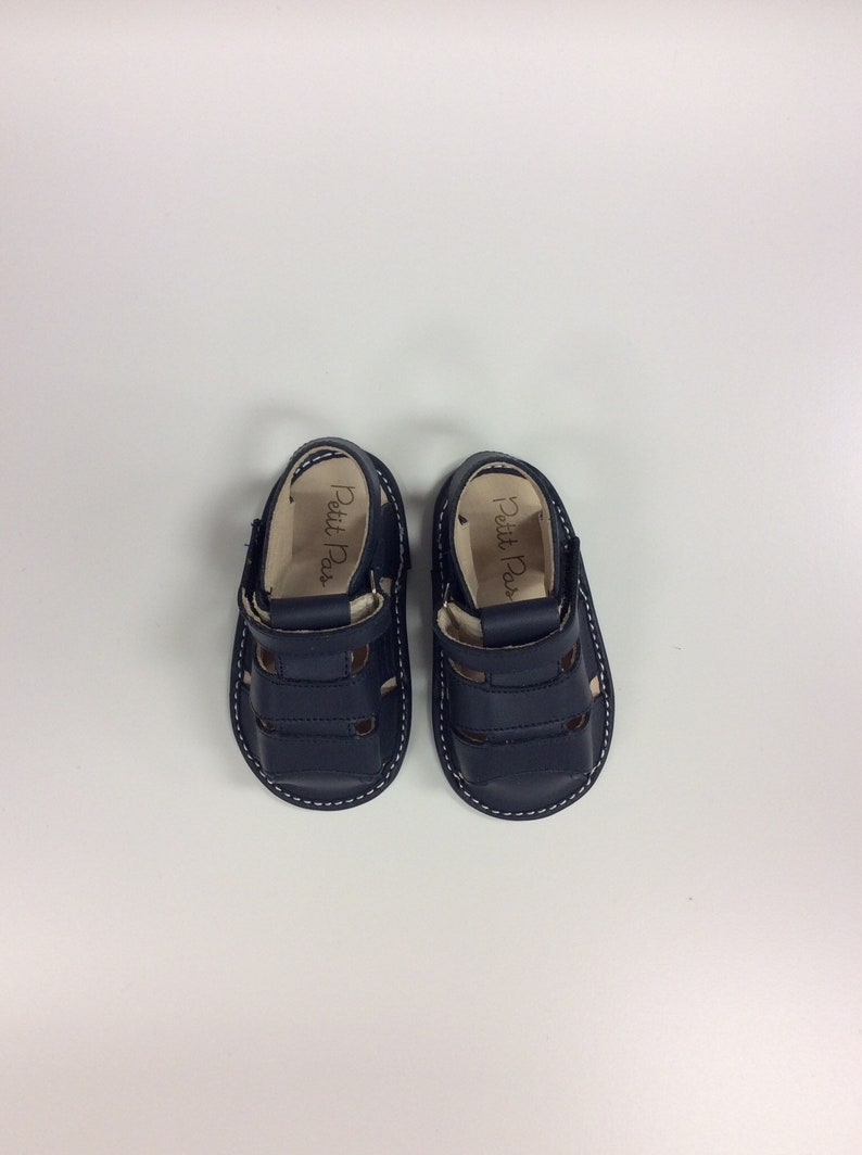 962570cb709ce Navy Petit Pas Inspired Baby Toddler Sandal Shoe