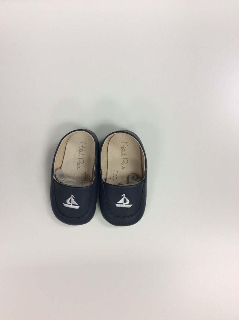 835474e82c4dc Navy Sailor Petit Pas Inspired Baby Toddler Loafer Shoe