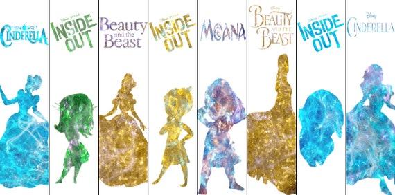Disney Princess Nebula Silhouette Bookmarks | Etsy