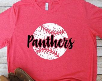 034a883aa8c Custom Baseball Team Name Shirt - Distressed Team Mascot TShirt - Baseball  Mom Shirt - Personalized Team Colors and Name T-Shirt - Sports
