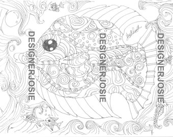 Easy Relaxing Colouring Pages for all ages 5 page set prints