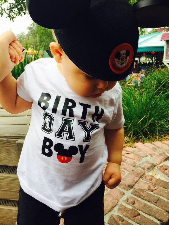 Mickey Mouse Birthday Boy Shirt Disney