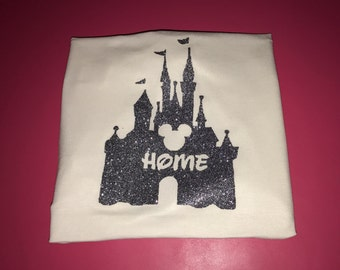 Disney shirt disney castle home shirt glitter castle shirt disney world