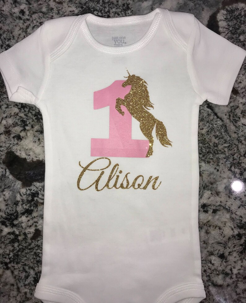 5ed70518f78 Unicorn baby girl birthday onesie unicorn birthday shirt unicorn birthday  party unicorn baby girl shirt unicorn baby girl onesie
