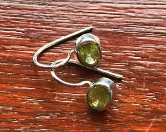 Sterling and Citrine drop earrings