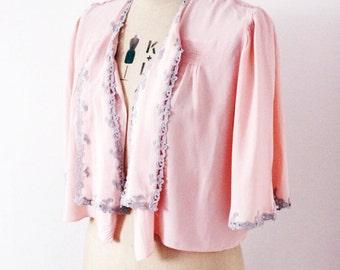 Vintage sweet pink/peach shrug