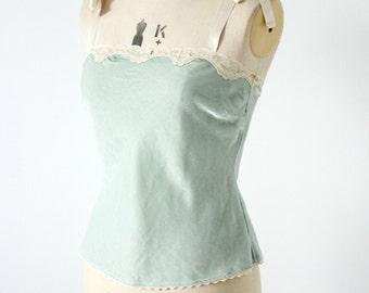 Vintage mint velvet vest