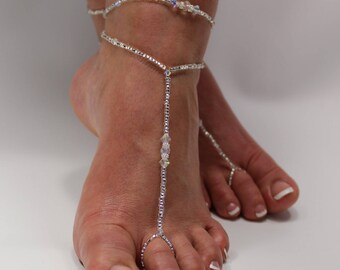 5dc1410dce2c0 CLEARENCE Foot Jewelry Beaded barefoot sandals