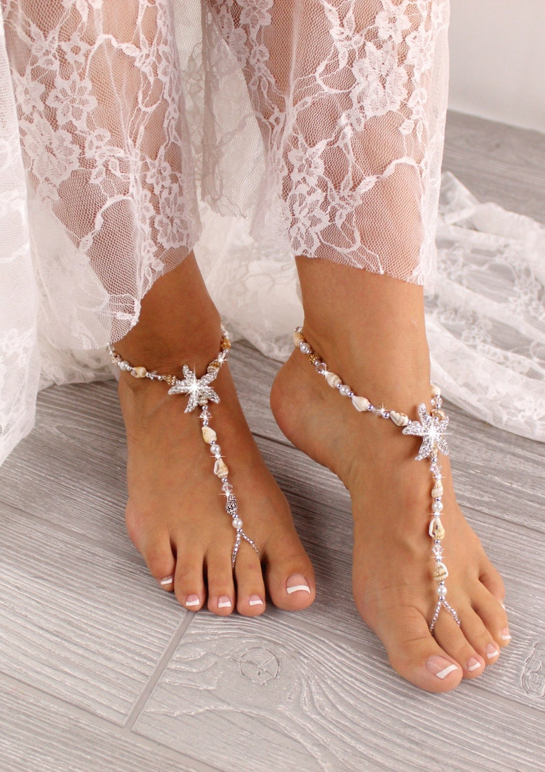 c08b5406916e Barefoot Sandals Sea Shell Foot Jewelry Starfish Foot