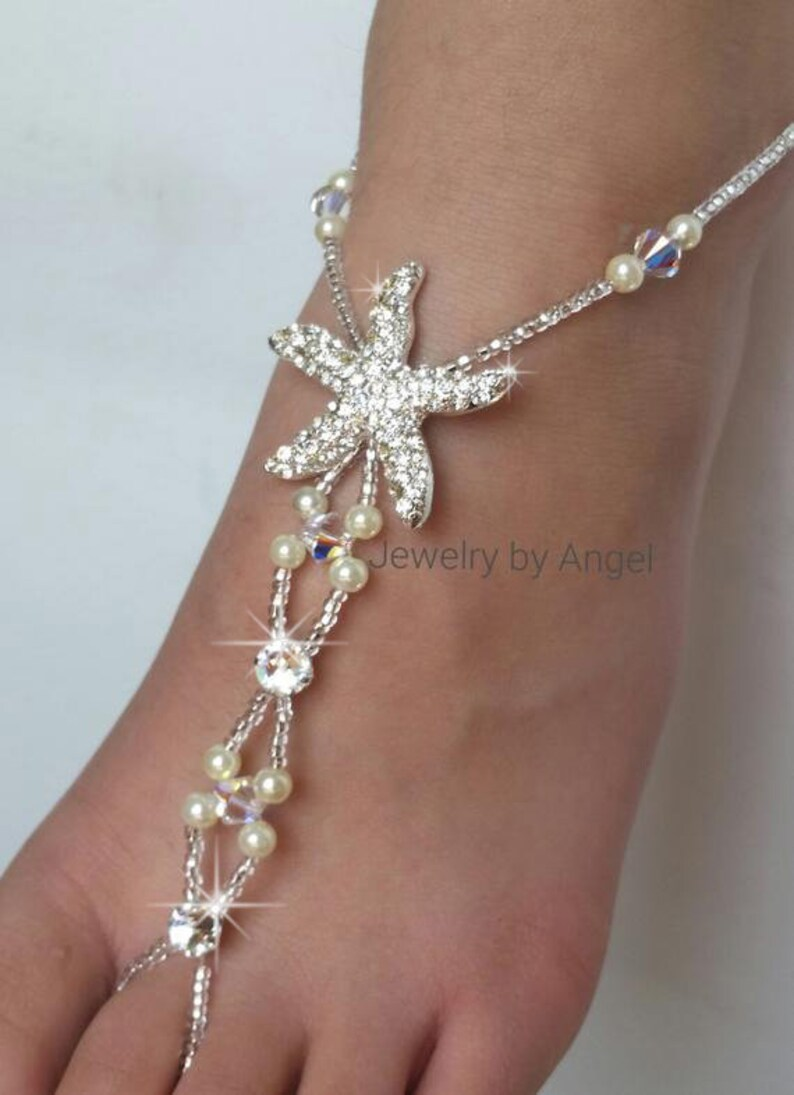 e15c5a3a7d438e Wedding Barefoot Sandals Starfish Foot Jewelry Barefoot