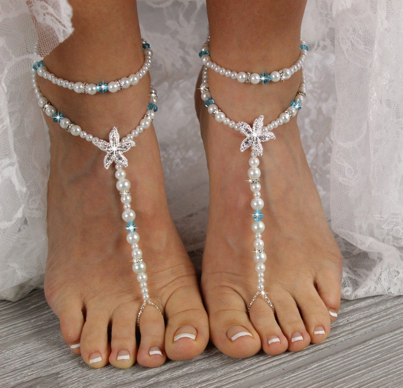 47ac2a4effb1 Starfish Foot Jewelry Sandal Anklet Crystal Wedding Foot