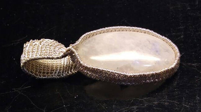Moonstone in silver.