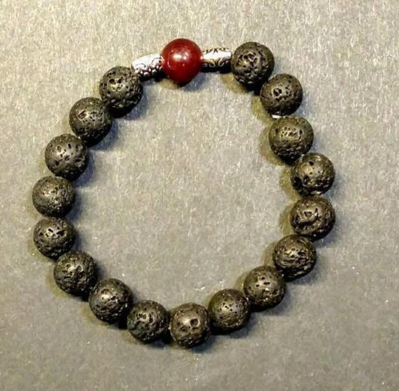 48b9e2bad Lava stone bracelet | Etsy