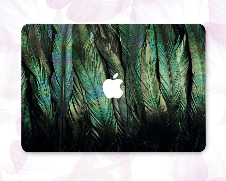 sale retailer c1895 8954c Green Feather Macbook Air 13 2018 Case Art Print Pro 13 2018 Case Macbook  12 Inch Feather Macbook Air 11 Cover Laptop Hard Case Gift CBB7043