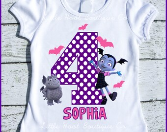 Custom Personalized Vampirina Birthday tee shirt