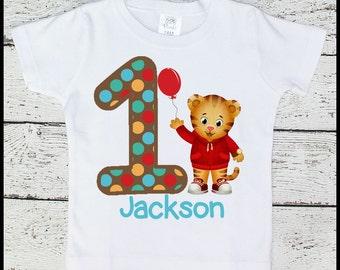 Custom Personalized Boys Daniel the Tiger Birthday tee shirt