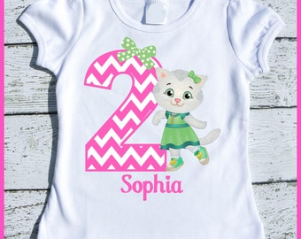 Custom Personalized Katerina Kitty Birthday tee shirt