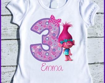 Custom Personalized Super Cute Trolls Poppy  tee shirt