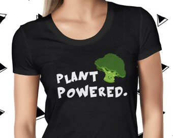 Cute Vegan Broccoli Tee - Vegetarian Tee - Funny Vegan Tshirt - Vegan Shirt - Plant Based Tee - Cute Plant Tee - Plant-based Tee-Broccoholic